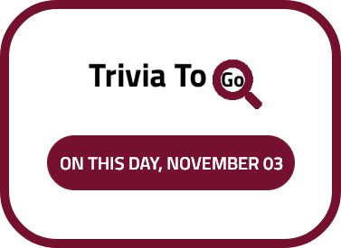 On this day, November 03